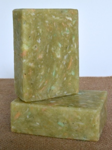 The French Milled soap made from both dud soaps